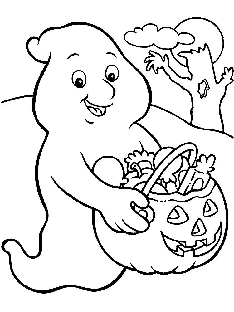 Раскраски для детей на Хэллоуин
