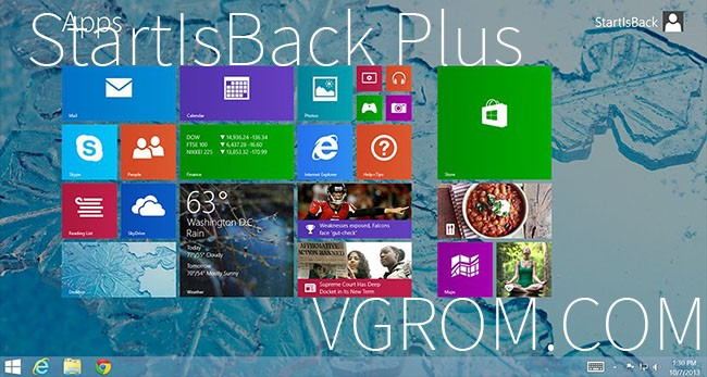 StartIsBack для Windows 8.1 с активацией