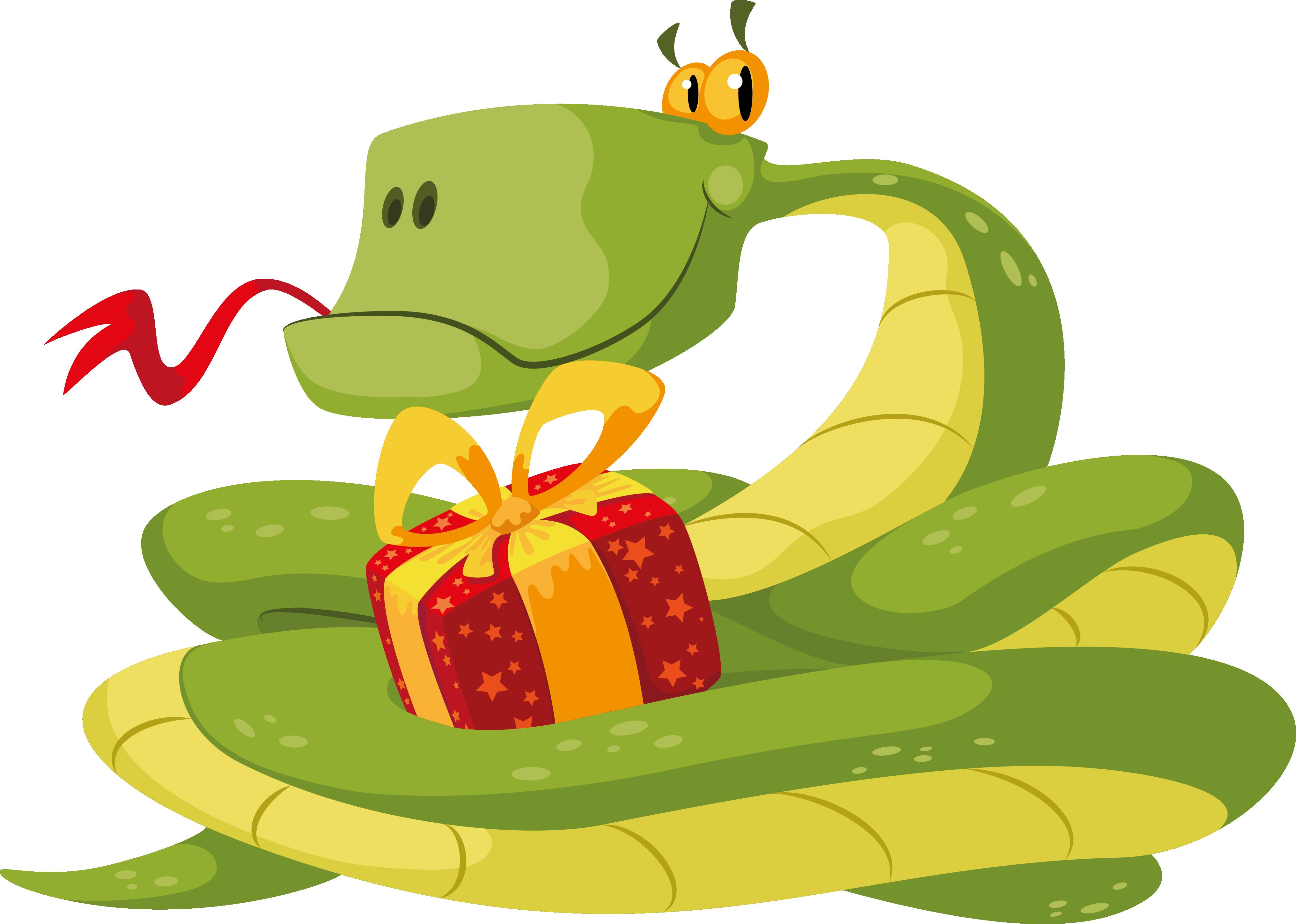 Картинки змеи с поздравлениями