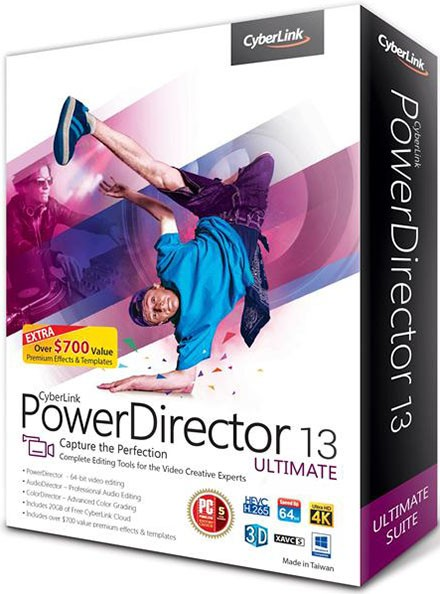 Русский CyberLink PowerDirector 13 торрент
