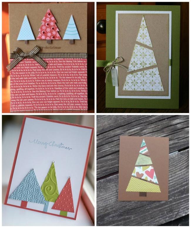 открытки на новый год своими руками простые